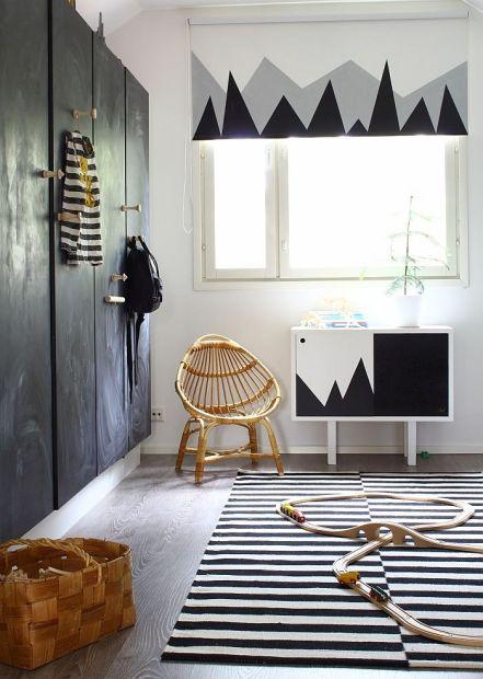 Habitacion  infantil blanco negro