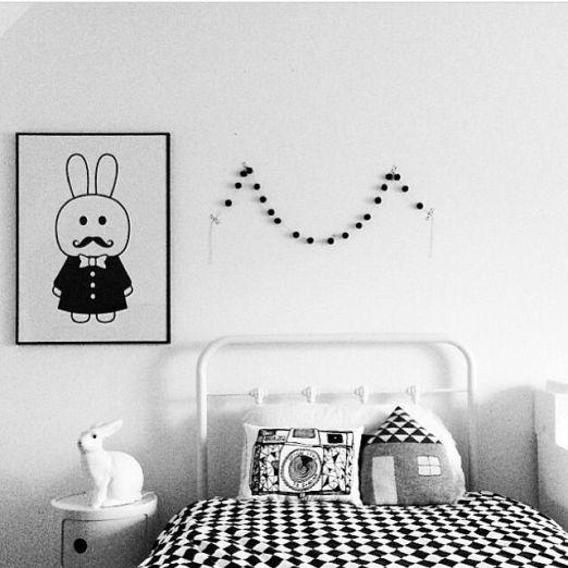 Habitacion blanco y negro