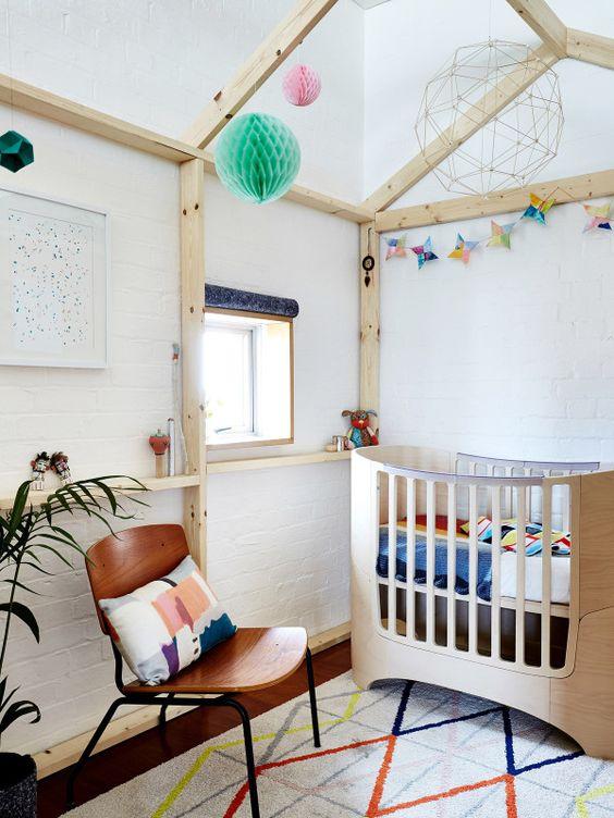 decoracion-cuarto-bebe-cuna-madera